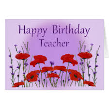 teacher birthday greeting cards zazzle com au