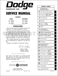 1965 dodge coronet u0026 dart repair shop manual reprint