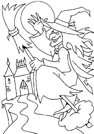 evil witch halloween coloring pages coloring pages