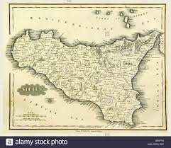 Map Of Sicily Italy by Map Of Sicily Stock Photos U0026 Map Of Sicily Stock Images Alamy