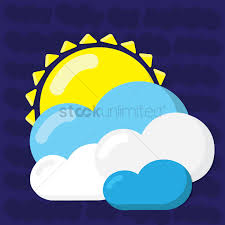 sun with clouds vector image 1428230 stockunlimited