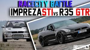 nissan pathfinder quarter mile gt r r35 vs impreza sti gc8 jdm 1 4 mile racecity battle race 2