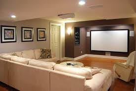 new york media room paint basement traditional with accent wall