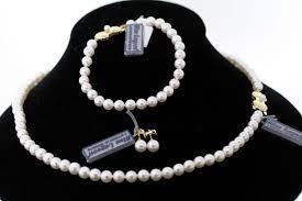 gold necklace bracelet earrings set images Mikimoto blue lagoon 14k gold 5 5 6 0mm pearl necklace bracelet jpg