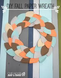 thanksgiving wreaths diy diy fall paper wreath u2022 our house now a home