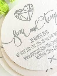 letterpress coaster wedding invitations u2014 coco press