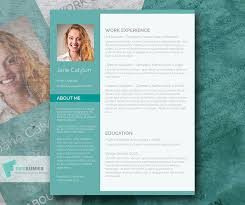 Word Resumes Templates Classy Emerald U2013 A Fancy Word Resume Template Freebie