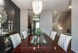 House Interior Wallpaper Art Deco Purple Dining Room Design Ideas U0026 Pictures Zillow Digs