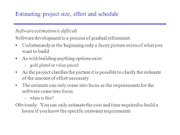 estimating project size effort and schedule ppt download
