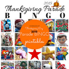 thanksgiving day parade bingo for 2015 all about all the
