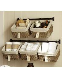 baskets for home decor diy bathroom vanity pottery barn and storage