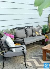 Cushion Covers For Patio Furniture by Reupholstered Patio Cushion Covers With Velcro Enclosures And