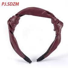 leather hair accessories pu leather hair accessories forest cat cortex leather headband