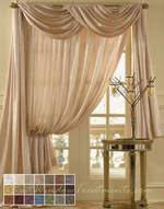 Swag Curtains With Valance Scarf Swag Curtains Bestwindowtreatments Com
