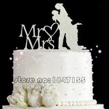 bling wedding cake toppers bling bling silver mr mrs acrylic wedding cake toppers and
