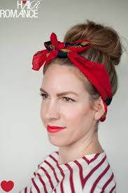 headband with bow 5 ways to wear a scarf and a top knot 4 retro bow headband