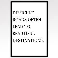 Anchor Print Inspirational Print Quot - canvas art print difficult road leads to beautiful direction