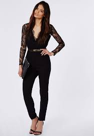 express black jumpsuit best 25 jumpsuit with sleeves ideas on formal black