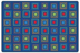 Squares Rug Primary Squares 8 U0027 X 12 U0027 Classroom Rug 4118