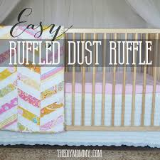 Mini Crib Sheet Tutorial by Sew An Easy Ruffled Crib Dust Ruffle The Diy Mommy