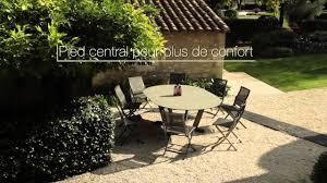 table de jardin haut de gamme hegoa table ronde extensible les jardins mobilier de jardin