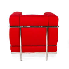 Lc2 Armchair Red Cassina Lc2 Chair By Le Corbusier Modern Italy Armchair For
