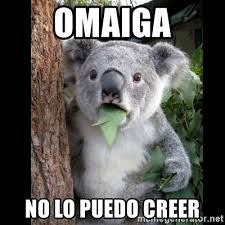 Omaiga Meme - omaiga no lo puedo creer koala can t believe it meme generator