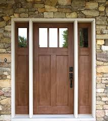 Fiberglass Exterior Doors With Sidelights Exterior Doors Craftsman Style Fir Textured Fiberglass Door With