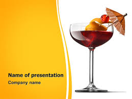 margarita cocktail powerpoint template backgrounds 06739