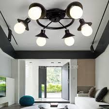 Lighting Fixtures Industrial by Industrial 6 Light Sky Wheel Shaped Living Room Ceiling Light Fixtures