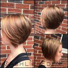short bob long front layers and stacked in the back blonde and