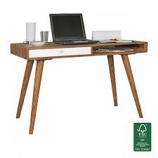 Kleine Schreibtische Aus Holz Finebuy Schreibtisch 120 X 60 X 75 Cm Massiv Holz Laptoptisch