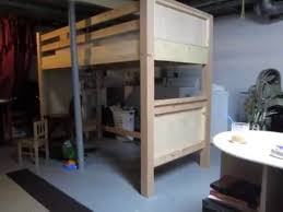 Twin Loft Bed Plans by Twin Loft Bed Diy Part 1 Youtube