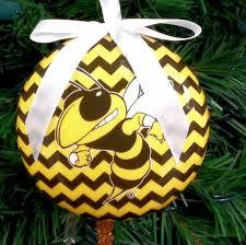 tech yellow jackets chevron ornament item 416304 the