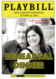 playbill wedding program our wedding rehearsal dinner invitations