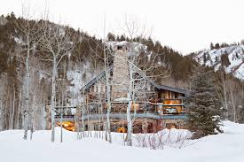 decor inspiration luxury ski lodge in aspen hello lovely