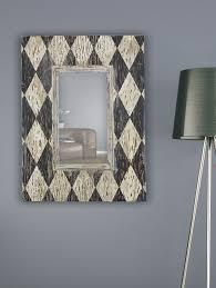 Classy Mirrors by Moneto Distressed Ivory U0026 Black Mirror 30