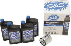 s u0026s 20w50 synthetic oil change kit 84 17 harley evo dyna touring