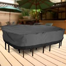 patio table and chair covers outdoor patio furniture table and chairs cover 108 length dark grey