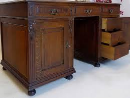 Schreibtisch Antik Schreibtisch Partnerdesk Büromöbel Antik Gründerzeit Um 1880 Eiche