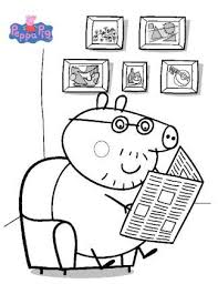 43 coloring pages peppa pig images pigs