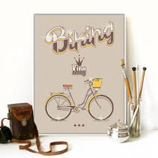 Bicycle Home Decor by Online Get Cheap Vintage Bicycle Art Aliexpress Com Alibaba Group