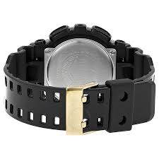 black friday g shock watches casio g shock analog digital dial black and gold resin men u0027s watch