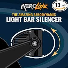 52 inch led light bar cover amazon com smoked aerolidz universal 50 52 inch wind diffuser