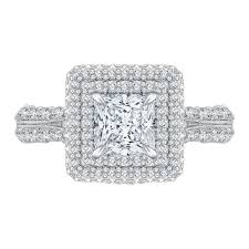 5 engagement ring 18k white gold 1 5 8 ct carizza semi mount engagement ring