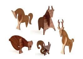 barked critter decor moderne wood animals