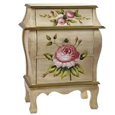 Natural Nightstand Nearly Natural Antique Floral Nightstand 7012 The Home Depot
