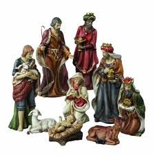 amazon com kurt adler porcelain nativity figures table piece 9