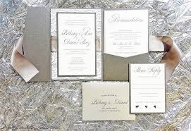 wedding invitations with ribbon silver and gray ribbon and lace wedding invitations