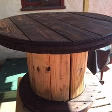 Wooden Spool Table For Sale I Had A Vision For This Old Cable Spool Hometalk